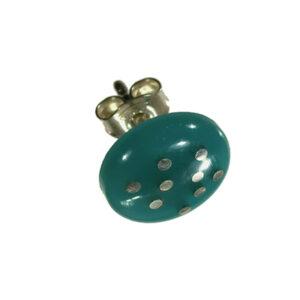 Örhänge knapp silverstift akryl i grön