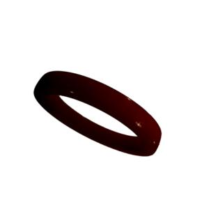 Akryl ring blank vacker brun