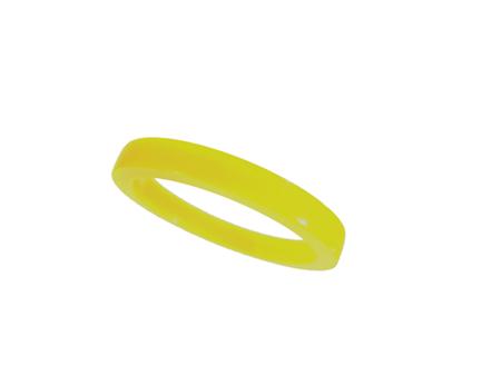 Akryl ring blank vacker gul