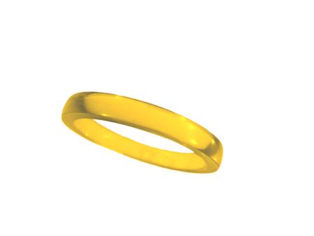 Akryl ring blank vacker gul halvopak