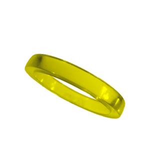 Akryl ring blank vacker gul opal
