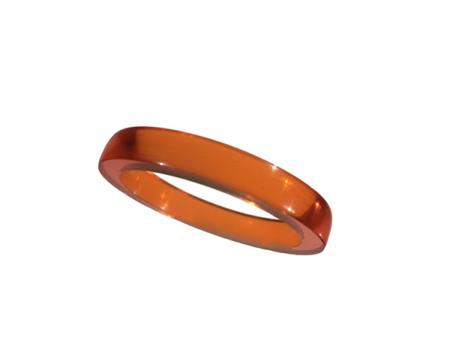 Akryl ring blank vacker mörk honung opal