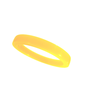 Akryl ring blank vacker honungsgul