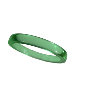Akryl ring blank vacker ljusgrön opal