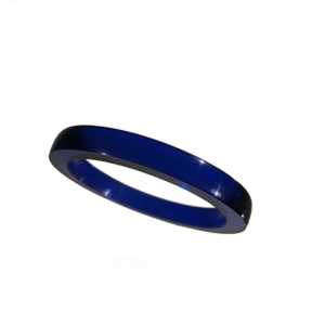 Akryl ring blank vacker midnattsblå opal