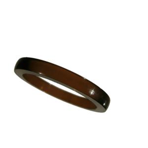 Akryl ring blank vacker brun opal