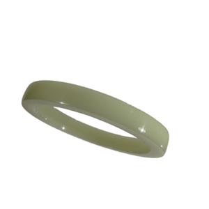 Akryl ring blank vacker mossgrön