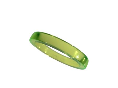 Akryl ring blank vacker neongrön