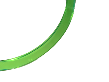 blankt armband i neongrön