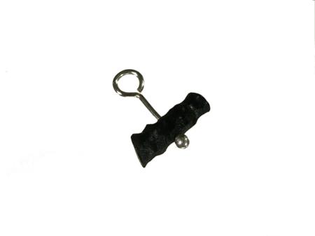 halskedja med akryl hänge svart