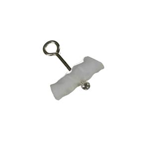 halskedja med akryl hänge vit