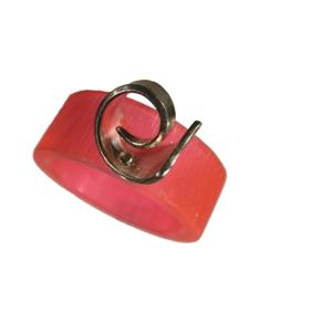 Akryl silver ring neonrosa