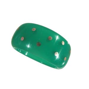 Ring akryl silverstift ljusgrön