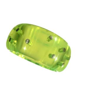 Ring akryl silverstift neongrön