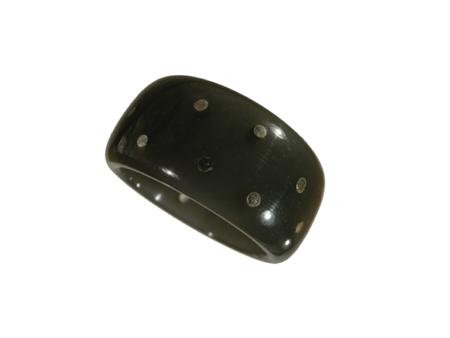 Ring akryl silverstift svart