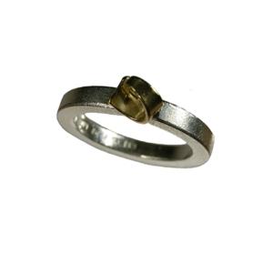 ring silver guld matt