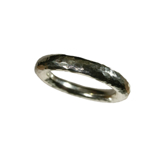 ring silver hamrad 4 mm