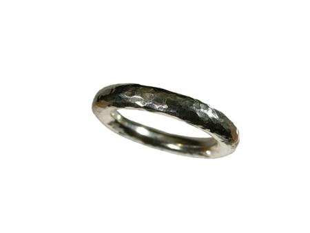 ring silver hamrad 4 mm