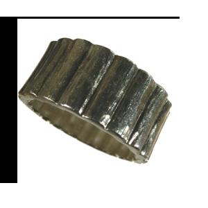 ring silver tung gjuten maskulin