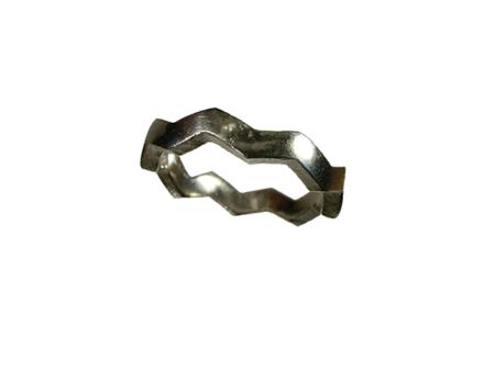 ring silver gjuten zigzag
