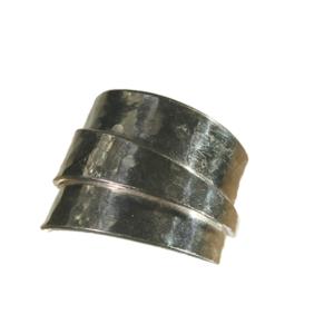 ring silver behaglig hamrad