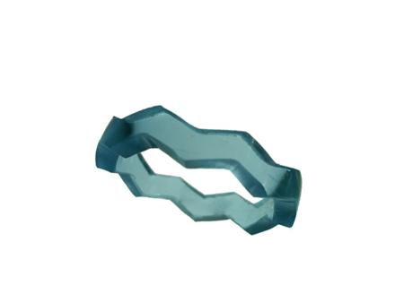 Blank akryl ring ljus smaragdgrön opal