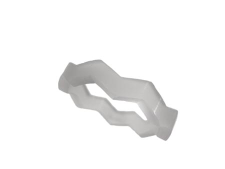 Blank akryl ring mjölkvit