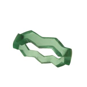 Blank akryl ring grön opal