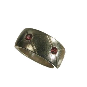 Ring silver synt. rubiner