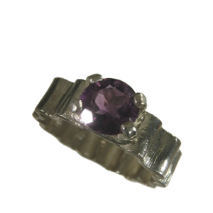 Ring silver ametist