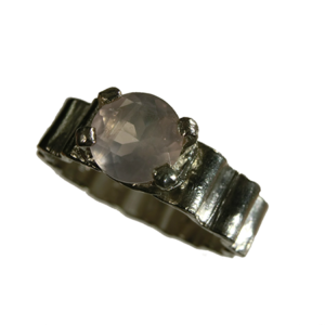 Ring silver morganit