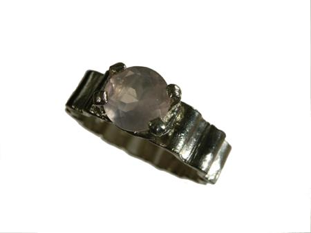 Ring silver morganit